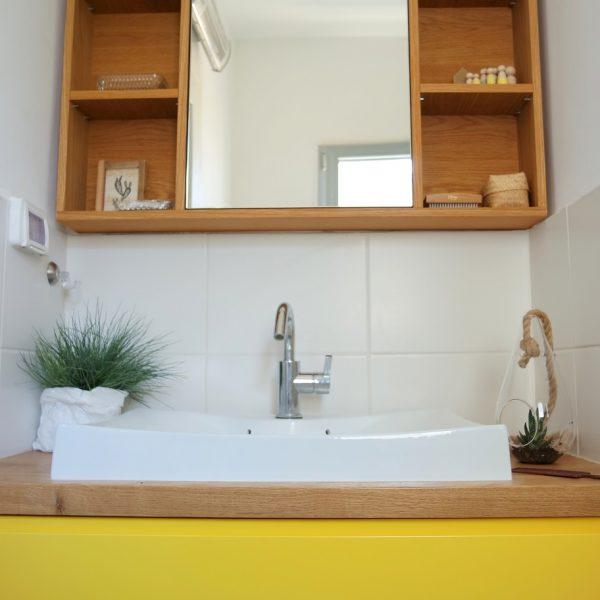 ארון כיור צהוב אייר שפירא