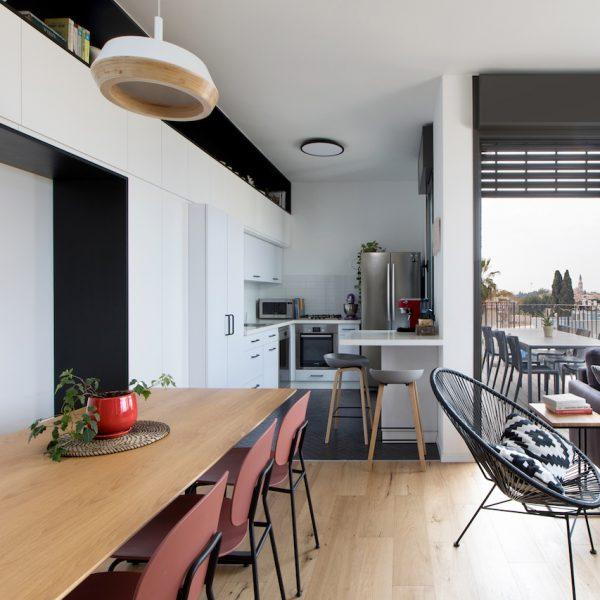 עיצוב דירת קבלן תל אביבית אייר שפירא