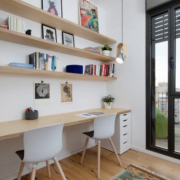 עיצוב חדר עבודה אייר שפירא