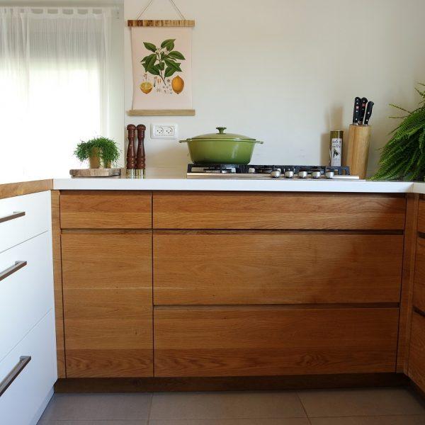 עיצוב מטבח עץ אייר שפירא